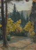 Осенний лес  70-51см. картон масло