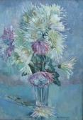 Цветы 70-49 холст, масло 1979г.