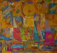 Солнечная регата 100-110 холст, масло 2006г.