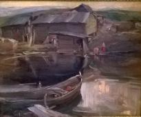Северный пейзаж 1902-1903. Холст, масло.