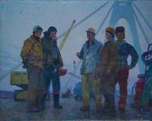Мостостроители 158-208 холст, масло