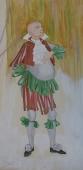 Портрет придворного шута  50-25 см.  бумага акварель1986г