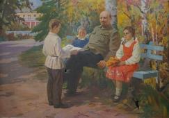 Ленин с детьми в Горках 140-205 холст, масло
