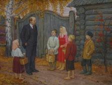 С детьми 150-200 холст, масло