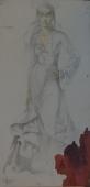 Портрет цыганки 50-25 см. бумага карандаш  1982г.
