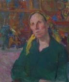 Портрет женщины 71-59 см. холст масло 1979г.