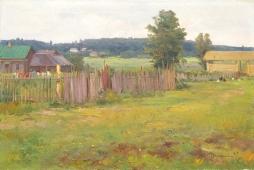 Деревня Загорье 47-70 холст, масло 1957г.
