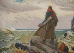 Шевченко Т.Г. на Каспии  125-179 см. холст масло 1964г.