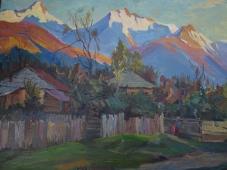 Творческий пейзаж 80-60 см., холст, масло 1960