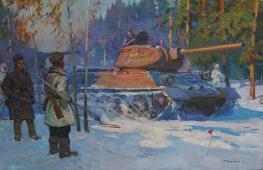 Урал фронту 100-150 см. холст масло 1966 г.