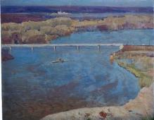 Река белая 80-100 холст, масло 1974г.