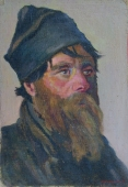 Портрет старца 40,5-27 см. картон масло 1961г