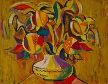 Солнечные цветы 62-81 картон, масло