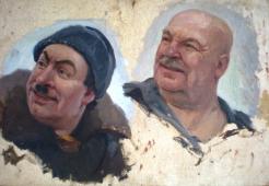 Портрет друзей 37-55 картон, масло