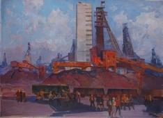 Дзержинка 95-129 см. холст масло 1981г