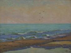 Утро на море 75-100 см. холст масло 1954г.