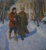 В зимнем парке 180-165 холст, масло 1971г.