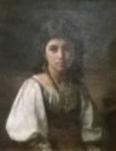 Портрет девочки-цыганки 1878. Холст, масло.