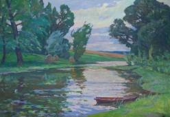 Река 90-120 холст, масло