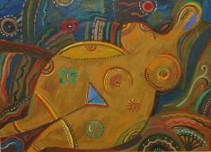 Степная женщина 55-75 холст, масло 2001г.