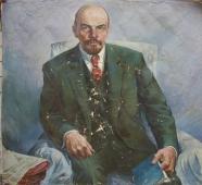 Портрет Ленина  128-120 холст, масло