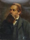 Фридрих Энгельс 80-60 холст, масло