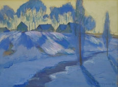 Зимний пейзаж 60-80 холст, масло