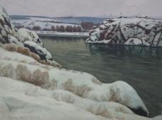 Морозное утро 90-120 холст, масло 1977г.