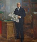 Ленин с газетой 195-170 холст, масло