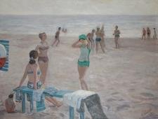 Пляж 120-160 холст, масло