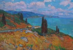 Крымский пейзаж  90-130 см. холст масло 1960 г.