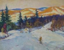 Зимние Карпаты 79-99 см. холст масло  1961г