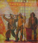 Сталевары 171-155см. холст масло 1978 г
