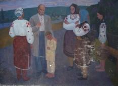 Шевченко на Украине 150-180 см. холст масло 1972г.