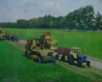 Сбор урожая 120-150 холст, масло 1978г.