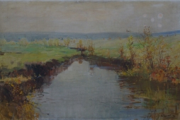 Осенний пейзаж 100-150 см. холст масло 1966г.