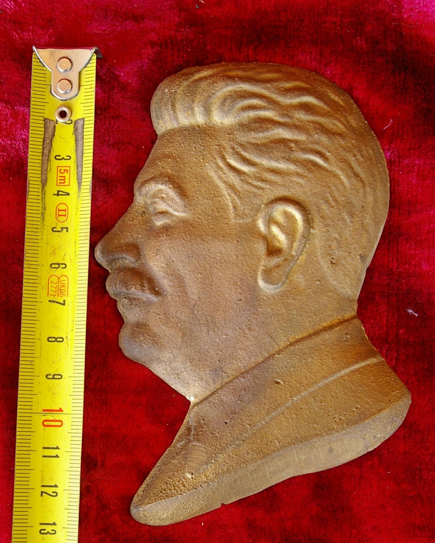 Барельеф Сталин, материал бронза , высота 13 см., ширина 7 см. - 3
