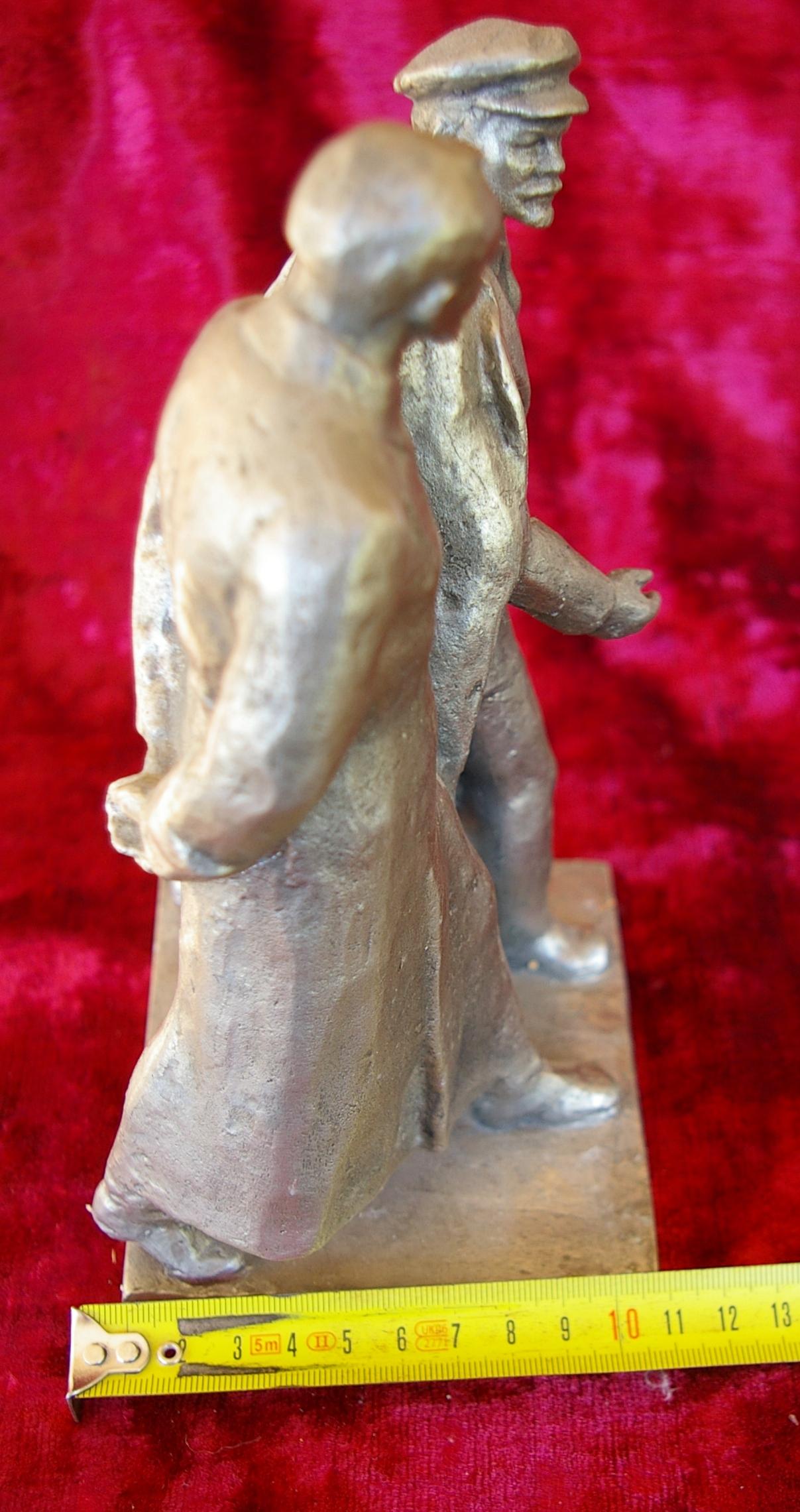 Скульптура Ленин с Дзержинским, материал метал, высота 23 см.,ширина 11 см., длина 11 см. - 7