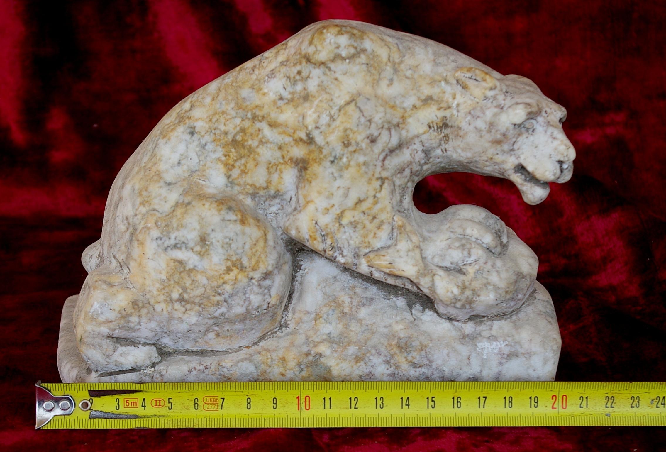 Скульптура Медведь, материал камень, высота 15 см., ширина 10 см., длина 20 см. - 6
