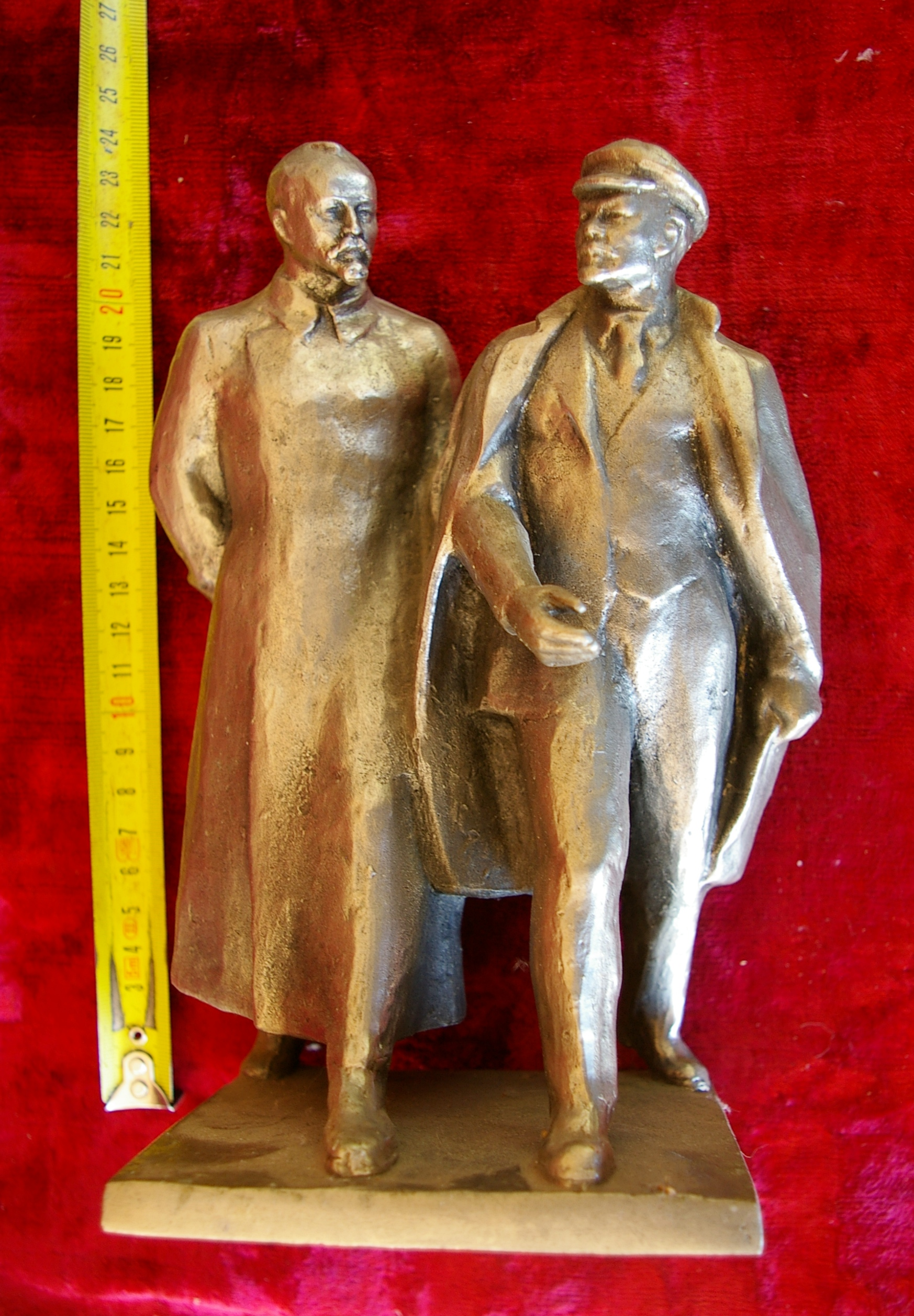 Скульптура Ленин с Дзержинским, материал метал, высота 23 см.,ширина 11 см., длина 11 см. - 5