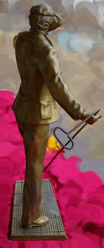 Скульптура Сталевар, материал бронза, высота 39 см., ширина 21 см., длина 9 см., 3 кг.,  - 8