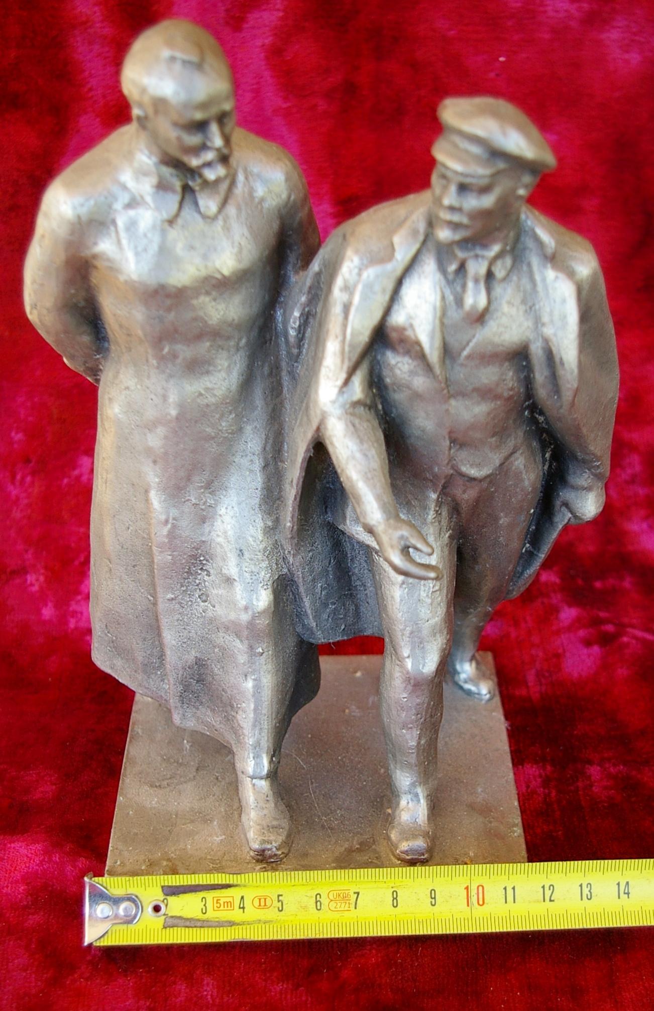 Скульптура Ленин с Дзержинским, материал метал, высота 23 см.,ширина 11 см., длина 11 см. - 6