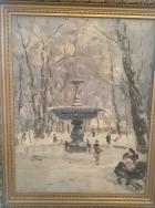 Зимний фонтан 1949. Холст, масло - 3