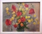Цветы 40-50 см., картон, масло 1958 - 1
