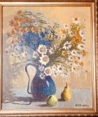 Полевые цветы 42-37 см., холст масло, 1998 год  - 1