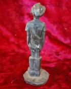 Скульптура Мальчик, материал бронза, высота 19 см., ширина 6 см., длина 6 см. - 3
