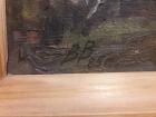 Березы 50-70 см., картон, масло 1985  - 1
