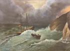 Гуллер Ю. Буря в море, как стол,холст, масло 1953  - 1