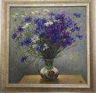 Цветочный натюрморт 40-40 см., холст, масло  - 1
