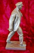 Скульптура Ленин, материал метал, высота 26 см., ширина 7 см., длина 11 см.  - 2